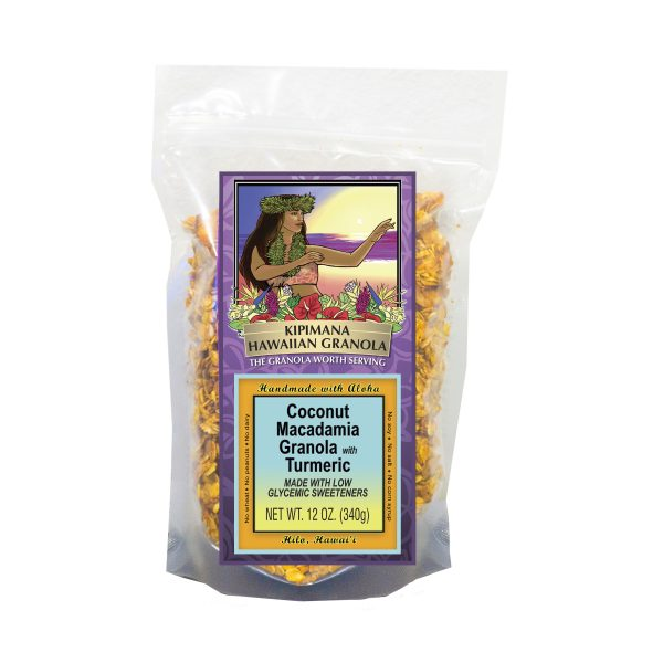 A Bag of Low Glycemic-Coconut-Macadamia-Granola-with-Turmeric